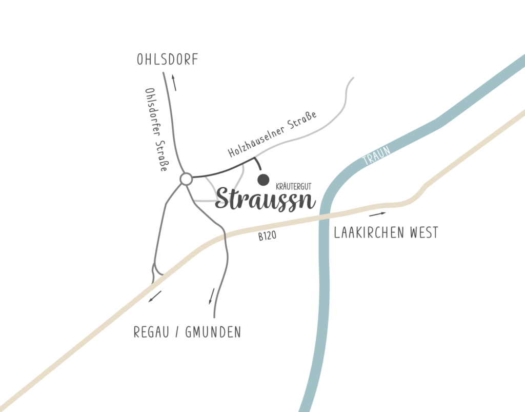 Anfahrt Straussn Kräutergut - Kleinreith Straße 25, 4694 Ohlsdorf